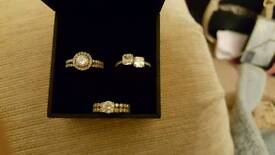 "X 3 stunning ""tru diamond"" rings"