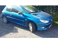 Excellent condition inside and out 2005 Peugeot blue 206 HDi Sport