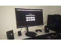 Very New, Hardly Used, Curved 1080p 27 inch Samsung Gaming Monitor 144mhz