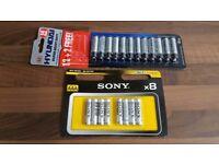8 x AAA + 12x AA Batteries | SONY & Hyundai Ultra/Super Heavy Duty 1.5V Zinc Carbon/Chloride R03 R6P