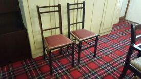 Pair Small Antique Occasional Chairs
