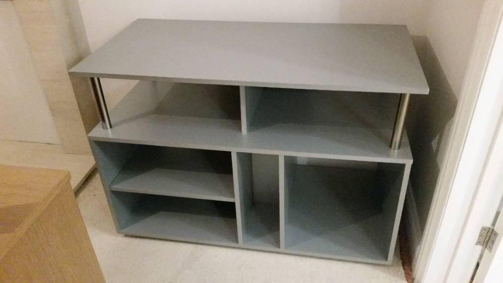Silver grey media storage tv unit