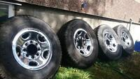 Full set of winter tires and rims. Located in merritt
