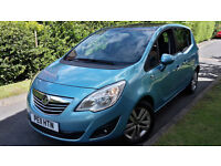 2011 NEW SHAPE VAUXHALL MERIVA 1.4 PETROL,PANORAMIC GLASS ROOF,ONE OWNER,EXCELLENT COND.