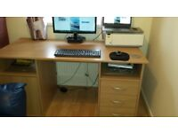 Wood effect Desk with storage