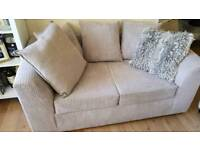 Beige/Brown 2 seater sofa