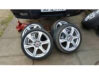 """Alloy Wheels 4 x 17"""" multi hole (4 stud) Wolfrace Asiatec Wheels"""