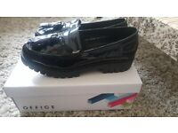 Office black patent loafer brand new