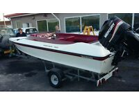 18ft power ring boat with mercury 200hp