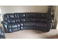Lazy Boy Black Leather Corner suite also a recliner chair RRP £3999