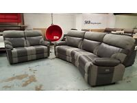 BRAND NEW ScS Ralph 4 Seater Curved Electric Recliner & 2 Seater Manual Recliner Sofas
