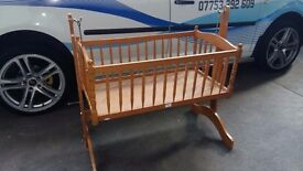 Beautiful wee cradle for up styling. Delivery can be arranged if required.