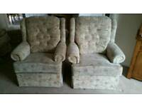 3 Seater Settee and 2 Chairs with Footstool