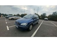 VAUXHALL ZAFIRA 16V CLUB/1.6/LOW MILAGE /7 SEATER/ FRESH MOT £745
