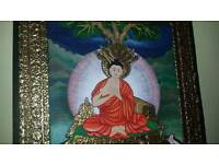BeautifulTanjavur hand painted Buddha