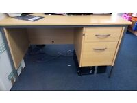2 X office desks with fixed drawers