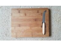 Wooden Cheeseboard & Knife Set (New & Sealed)