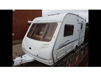 2 berth Sterling Eccles Amber2005. L shape seating Awning luxury layout
