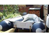 Honda Honwave T40 aluminium floor inflatable boat .