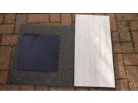New dark grey ceramic tiles , 22 meters , new in boxes