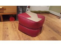 Vintage Retro Pouffe Pair Footstools Moroccan Inspired Side Table Bedside Foot Stools