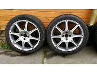 "17"" 4x100 pcd alloy wheels with tyres"