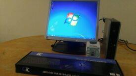 HP Ultra Slim Form Desktop Computer PC & 17 LCD - Bargain