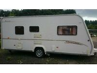 BAILEY VERMONT 2006 2 BERTH TOURING CARAVAN VCG WITH A FITTED MOTORMOVER AND AWNINGS