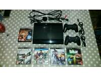 Playstation 3 12GB Slimline + remotes and 5 games
