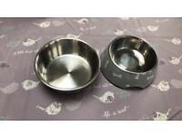 Two dog bowls - as new condition