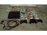 Ps3 slim with 17 games 3 joypads