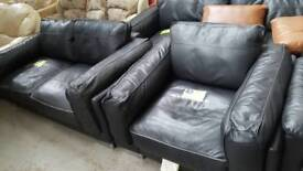 Leather sofas and chair.