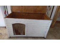 wooden dog hutch