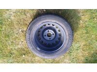 Spare car tyre in mint condition