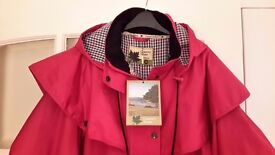 LADIES WATERPROOF RED COAT Size 20 BNWT