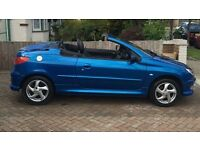 Peugeot 206cc 1600 convertible only 59,000 miles