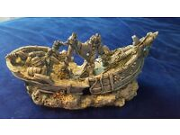 """A VERY LARGE SHIP ORNAMENT FOR A FISH TANK-AQUARIUM-53CM LONG-21""""-(21 inches)"""