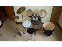 Session Pro drum kit - Black. & Metronome. Good condition, 1 user, collection or local delivery.