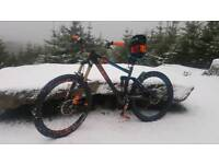 Cube Stereo HPA race 160 enduro mountain bike with upgrades