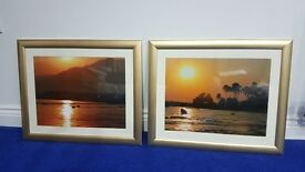 Gold picture frames