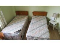 2 Single Beds With Headboard & Mattress £45 Each