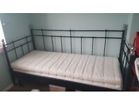 Black metal Ikea daybed for sale