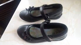REDUCED Clarks black school shoes.