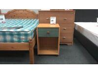 Bedside cabinet in light wood - British Heart Foundation