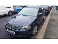 **Audi A3 1.6 Petrol 53 Plate with Private Reg 102,000 Miles Dark Blue with Alloys**