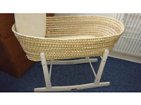 Moses basket+stand