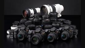 WANTED DSLR CAMERAS ,LENSES AND MOBILE PHONES