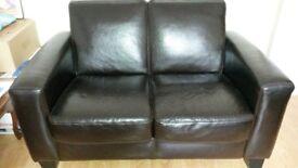 2 piece sofa black
