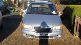 2000(w) hyundai trajet gsi petrol 7 seater