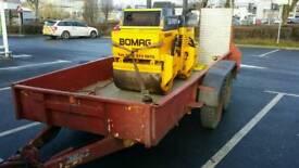 Bradley military 3.5ton twin axle trailer heavy duty